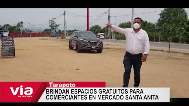 Morales: brindan espacios gratuitos para comerciantes en mercado Santa Anita