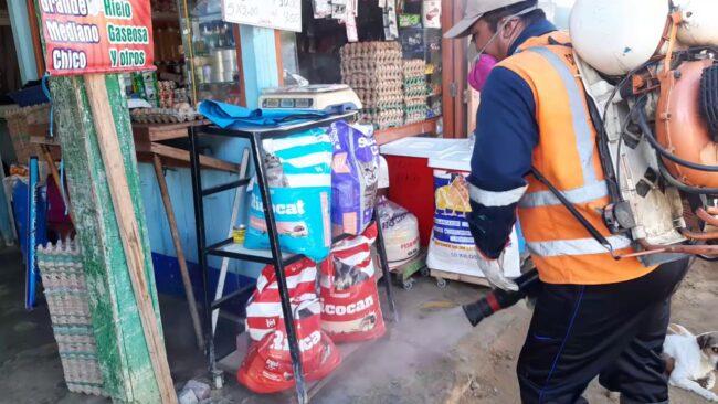 Comerciantes no están satisfechos  con fumigación en mercado de La Banda de Shilcayo