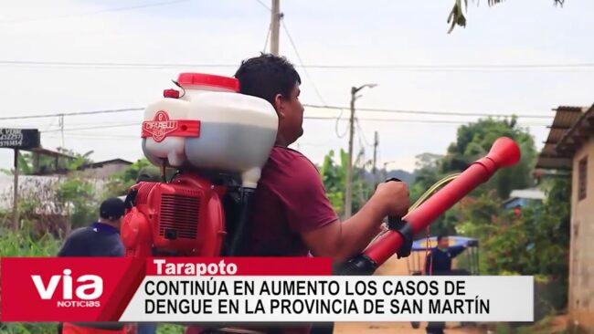 Continúa en aumento los casos de dengue en la provincia de San Martín