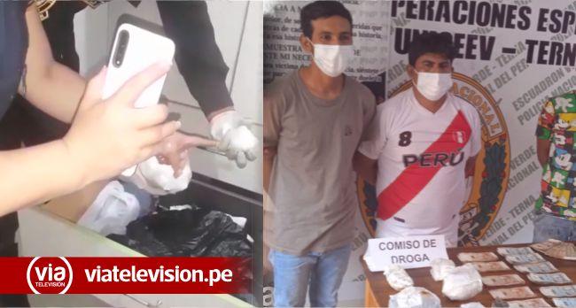 Intervienen a presuntos microcomercializadores de droga en barrio Atumpampa