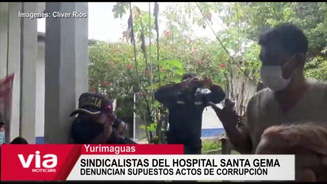 Sindicalistas Hospital Santa Gema denuncian supuestos actos de corrupción