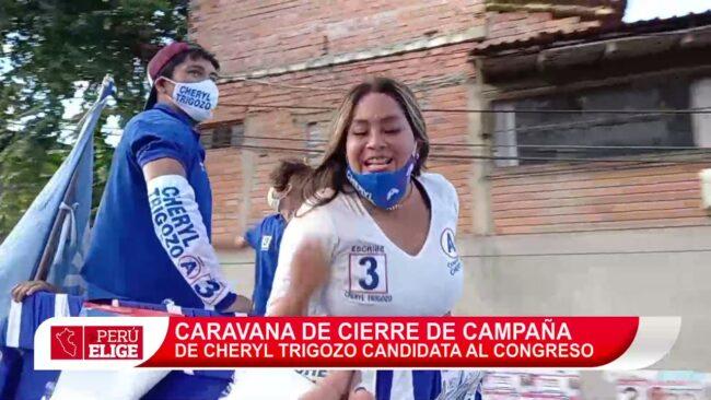 Caravana de cierre de campaña de Cheryl Trigozo candidata al congreso