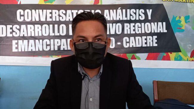 Dirigente del SUTEP cuestiona  cambio de director de Ugel San Martín