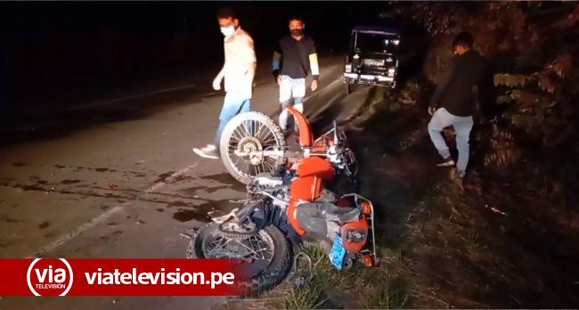 Tarapoto: motociclista salva de milagro  de morir arrollado por camión