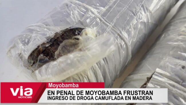 En penal de Moyobamba frustran ingreso de droga camuflada en madera