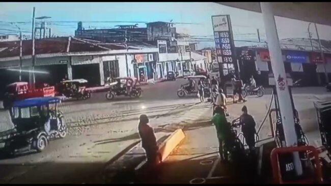Tarapoto: choque de auto y mototaxi deja dos personas heridas