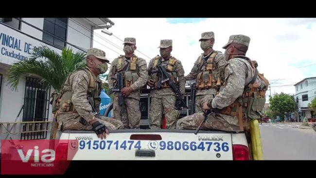 Tarapoto: soldados de la tercera brigada vuelven a patrullar las calles
