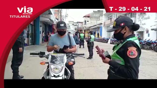 Titulares jueves 29 de abril del 2021 – VIA Noticias Tarapoto