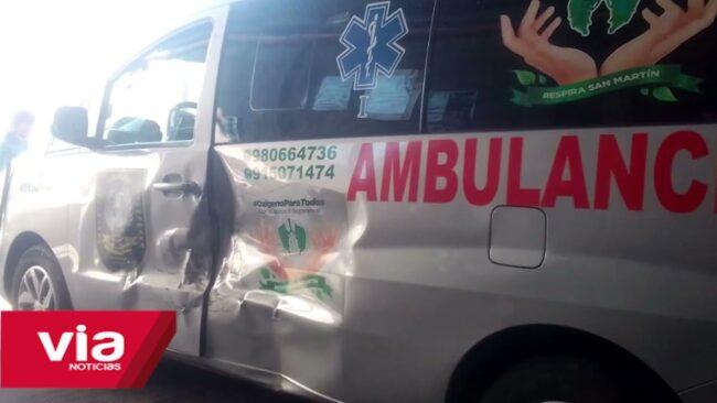 Alcalde de Tarapoto desconoce que ambulancia del serenazgo está averiada por accidente