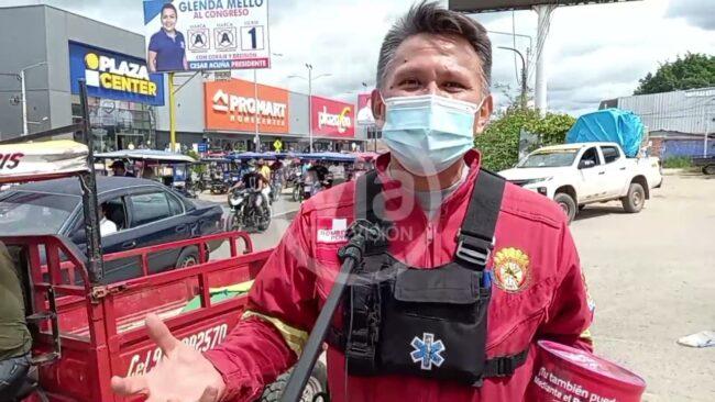 Bomberos de Tarapoto realizan colecta en las calles pro implementación