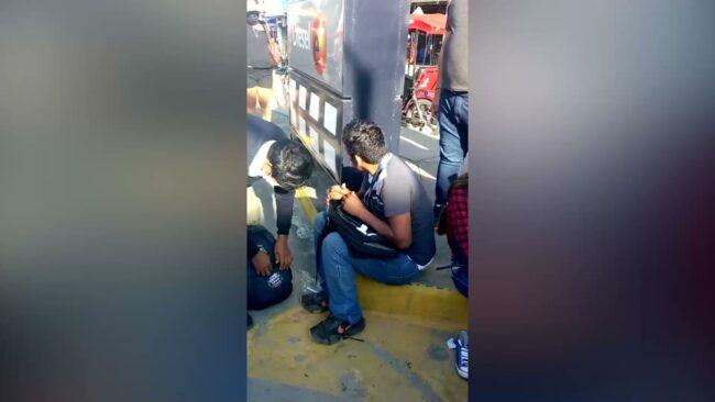 Choque de motos deja tres  heridos en el centro de Tarapoto