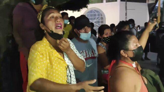 Dramáticas escenas de dolor mostraron familiares de los invasores detenidos