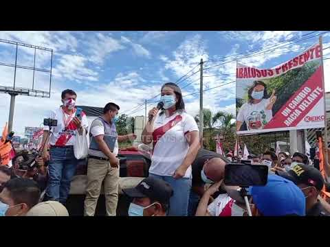 Keiko Fujimori da conocer medidas a adoptar  en eventual gobierno de Fuerza popular