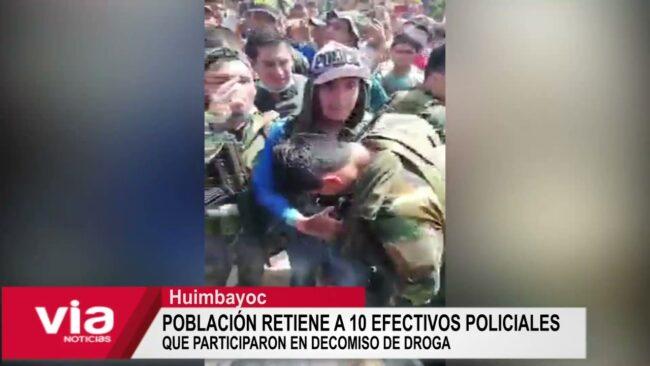 Retienen a 10 efectivos policiales que participaron en decomiso de droga