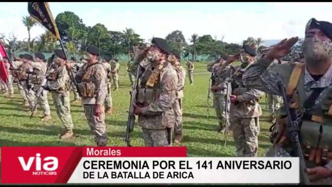 Ceremonia por el 141 aniversario  de la batalla de Arica