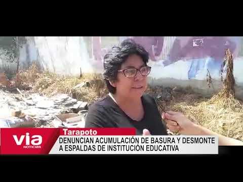 Denuncian acumulación de basura y desmonte a espaldas de I.E Juanita del Carmen