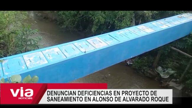 Denuncian deficiencias en proyecto de saneamiento en Alonso de Alvarado Roque