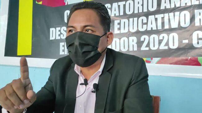 Dirigente del magisterio pide vacuna para docentes y alumnos para clases presenciales