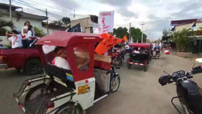 Fuerza Popular realiza cierre de campaña en Tarapoto con caravana de vehículos