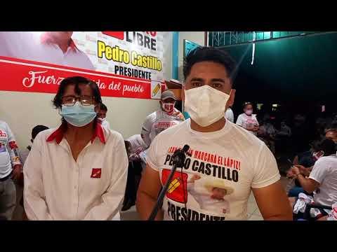 Mototaxistas y jóvenes del partido  morado se suman al apoyo a Perú Libre