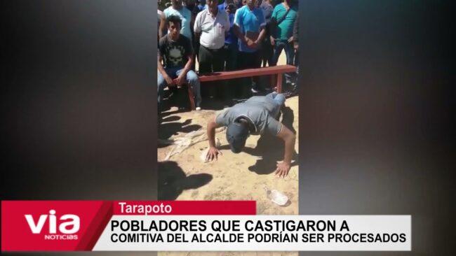 Pobladores que castigaron a comitiva del alcalde podrían ser procesados
