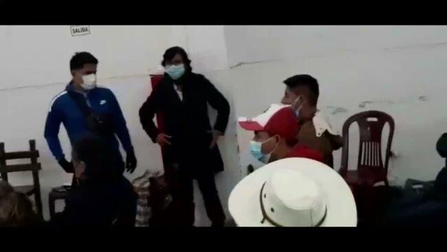 Sanmartinenses simpatizantes de Perú Libre en Lima respaldando a Pedro Castillo