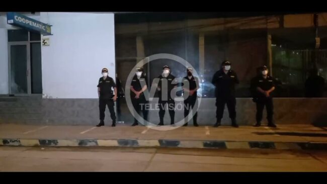 Tarapoto: entidades financieras y supermercados permanecieron bajo resguardo policial