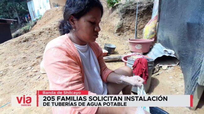 205 familias solicitan instalación de tuberías de agua potable
