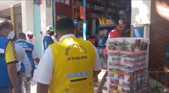 Bellavista: intervienen locales comerciales por tener veredas con productos