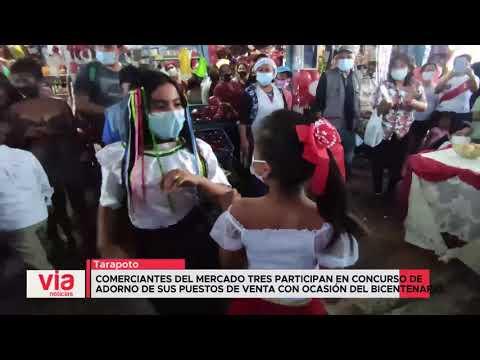 Comerciantes de Mercado N° 3 participan en concurso en ocasión del bicentenario
