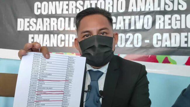 Dirigentes del SUTEP advierten que existen falsos docentes en lista para ser vacunados