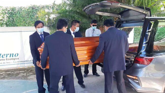 Sepultan a efectivo policial fallecido en accidente de tránsito
