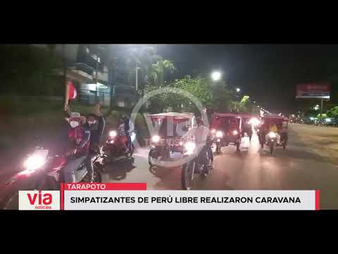 Simpatizantes de Perú Libre realizaron caravana en Tarapoto