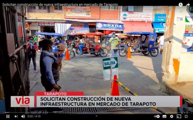 Tarapoto: solicitan construcción de nueva infraestructura en mercado