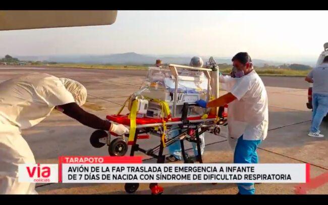 Avión de laFAP traslada de emergencia a infante de 7 días de nacida