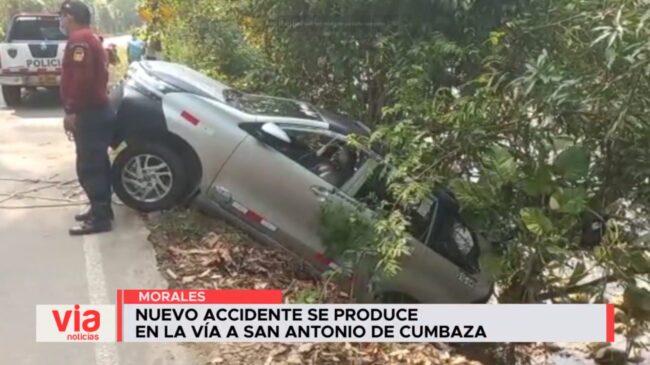 Nuevo accidente se produce en la vía a San Antonio de Cumbaza