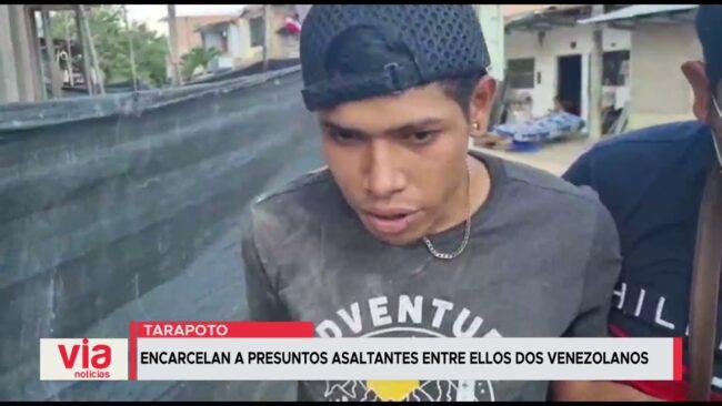 Encarcelan a presuntos asaltantes entre ellos dos venezolanos