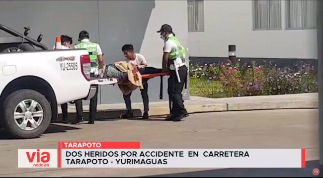 Dos personas heridas deja accidente en la carretera Tarapoto – Yurimaguas