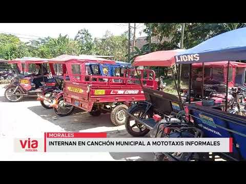 Morales: internan en canchón municipal a mototaxis informales
