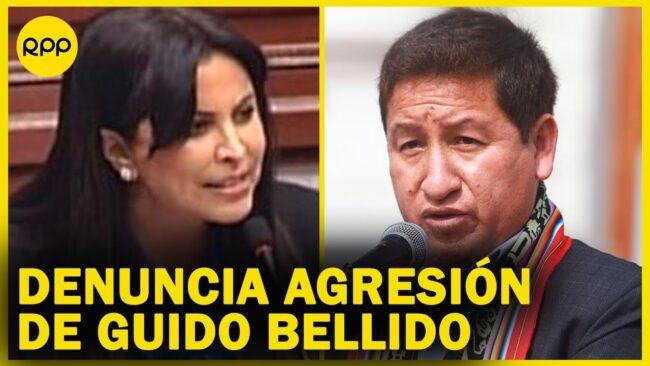 Patricia Chirinos denuncia que Guido Bellido la agredió verbalmente