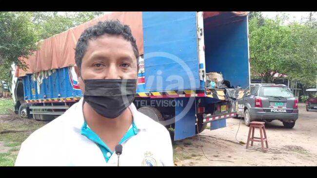 PNP recupera camión con abarrotes robado en asalto en carretera FBT