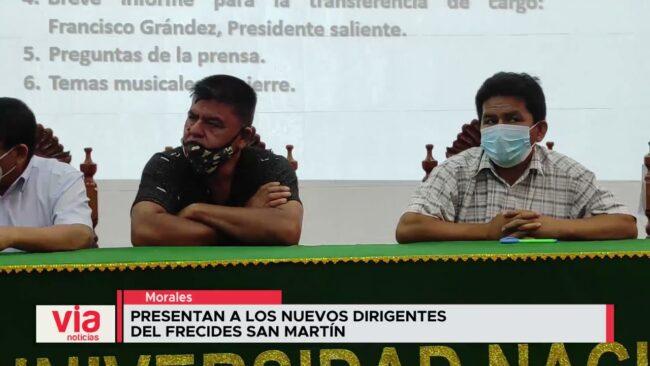 Presentan a los nuevos dirigentes del FRECIDES San Martín