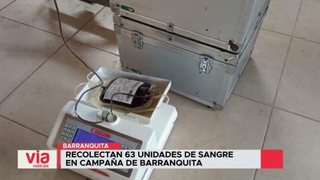 Recolectan 63 unidades de sangre en campaña de Barranquita
