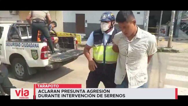 Tarapoto: aclaran presunta agresión durante intervención de serenos