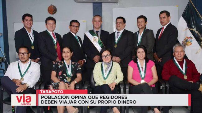 Tarapoto: población desaprueba decisión del  Consejo de viajar financiados por el pueblo