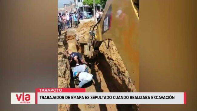 Trabajador de Emapa es sepultado cuando realizaba excavación