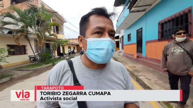 Mototaxistas se unen a vecinos de Santa Inés y paralizan ejecución de ciclovía