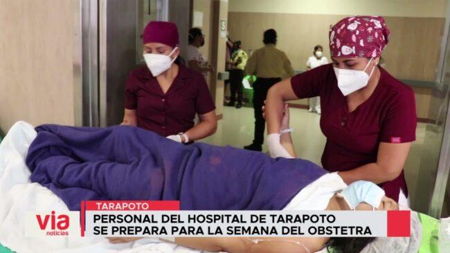 Personal del hospital de Tarapoto  se prepara para la Semana del Obstetra