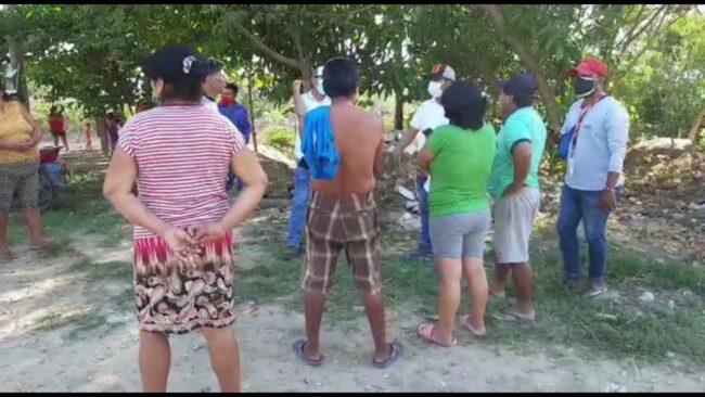 Tarapoto: pobladores retienen maquinarias que extraen material agregado