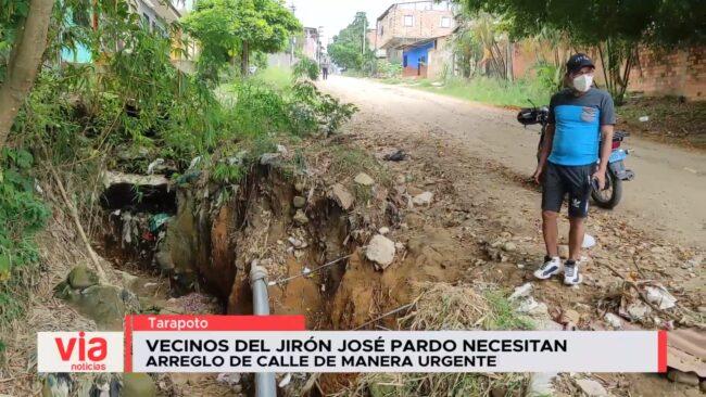 Vecinos del Jr. José Pardo necesitan arreglo de calle de manera urgente